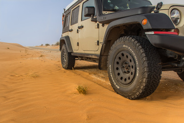 Making tracks in the Mauritanian sand