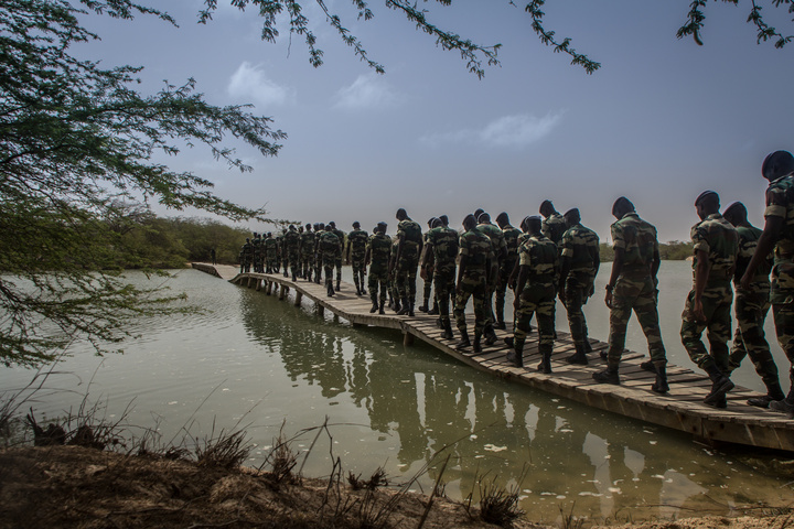 The Senegal Army paid a visit to Zebrabar - on a training exercise. They were very friendly
