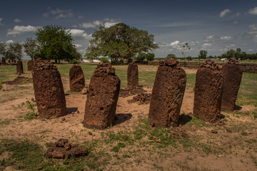 A closeup on one Wassu Stone Circle