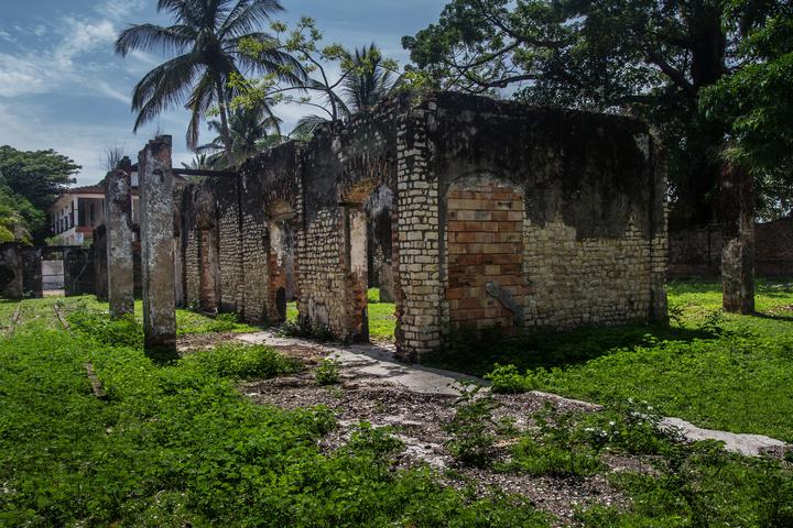 Ruins of old colonial buildings