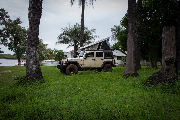 Camping the first night in Guinea-Bissau