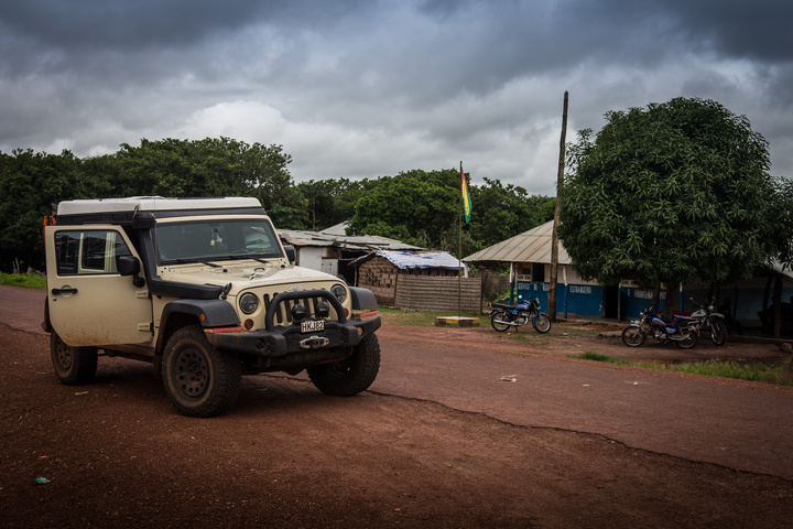 The international border leaving Guinea-Bissau