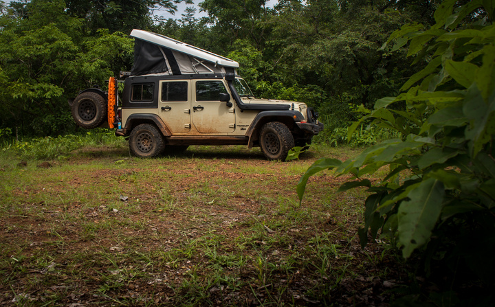 Camping in the jungle near a monster waterfall