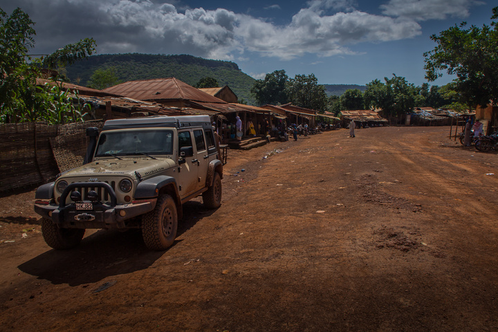 A village on the highway in Guinea