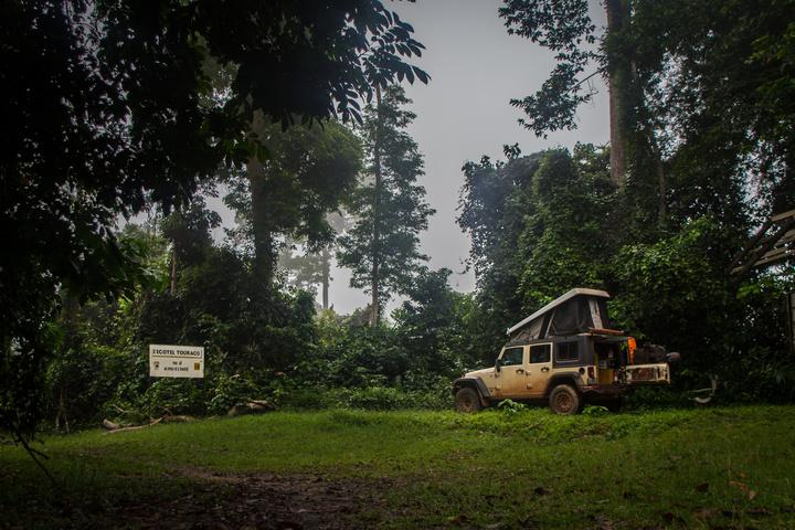 Camping at National Park Tai