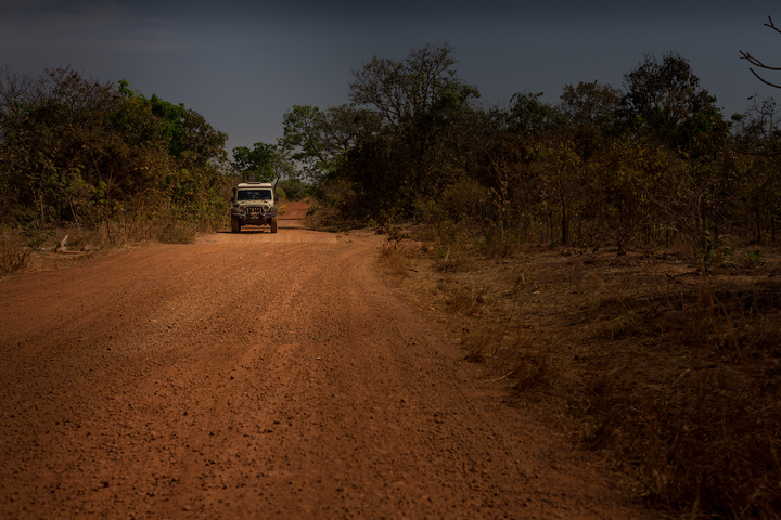 Dirt road immediately after the border into Burkina Faso