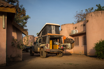 The last camping in Burkina Faso