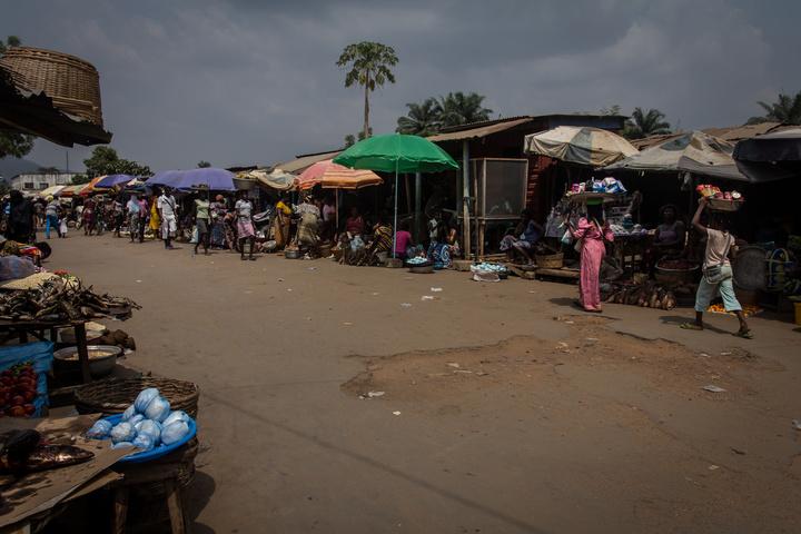 Street market in Kpalime