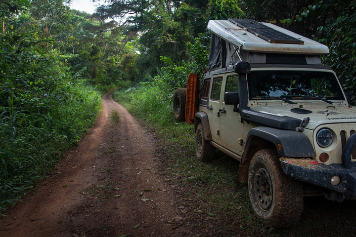 jeep africa gabon first night camping 720x480