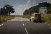 Entering the Congo, on the best road imaginable