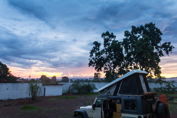 Sunset seen from my campsite in Gaps' compound