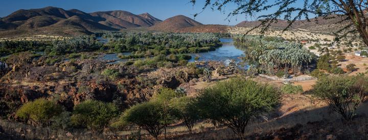 epupa falls panormama namibia 720x275