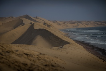 Massive dunes drop straight into the ocean