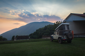 bulembu camping near the soccer field
