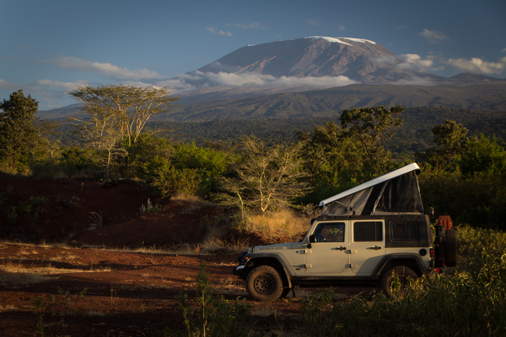 My wild camp on the Northern side of Kilimanjaro