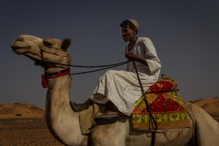 camel man at meroe 720x480