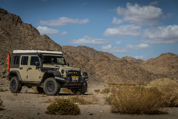 Exploring the rocky canyon