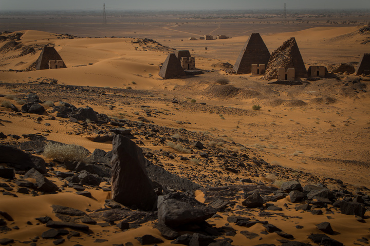 meroe pyramids from above 720x480