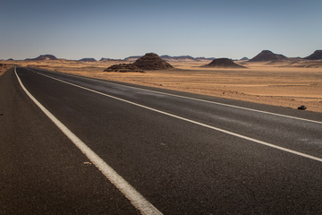 The highway stretches to Egypt